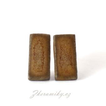 Keramické náušnice, ručně modelované, lehoučké. Z dílny Nikoly Černíkové Kunčice pod Ondřejníkem (Beskydy)